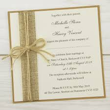 rustic invitations rustic burlap layered square invitation wedding invites