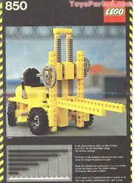 lego truck instructions lego 850 fork lift truck set parts inventory and instructions