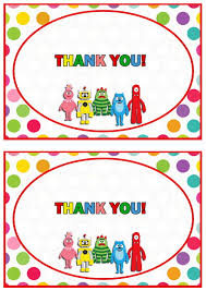 Yo Gabba Gabba Images by Yo Gabba Gabba Thank You Cards U2013 Birthday Printable