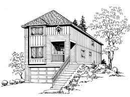 House Plans For Narrow Lot Hinson Hill Narrow Lot Home Plan 071d 0017 House Plans And More