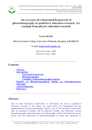 Example Of Research Essay Theoretical Framework Sample Research Paper