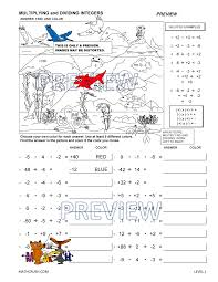 integer worksheets by math crush