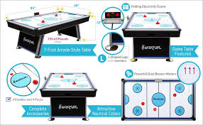 harvil 5 foot air hockey table with electronic scoring amazon com harvil 7 foot air hockey table full size for kids and