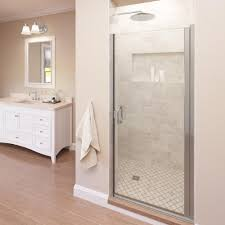 34 Shower Door Basco Infinity 34 In X 76 In Semi Frameless Hinged Shower Door