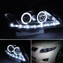toyota corolla 09 09 10 toyota corolla black led halo rings led drl projector headlights