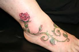 rose anklet tattoo rose and vine tattoo designs tattoo designs