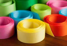 cheap ribbon grosgrain ribbon in variety of designs such as solid color polka