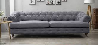Linen Chesterfield Sofa by Grey Linen Chesterfield Sofa Leather Sectional Sofa