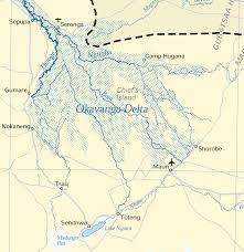 africa map kalahari okavango delta