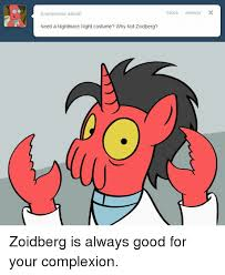 Why Not Zoidberg Meme - anonymous asked a need a nightmare night costume why not zoidberg