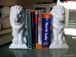 bookends lion diy dollarstore white lion bookends eamonn and