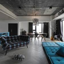 blue livingroom decorating with blue and grey and silver