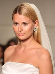 how to wear hair behind the ears sleek and straight you don t have to wear an updo to don a veil