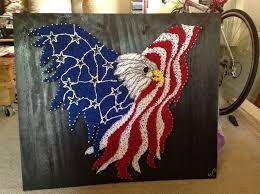 Coors Light Flag American Eagle With Usa Flag String Art String Art Pinterest