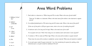 word problems using area activity sheet word problems using