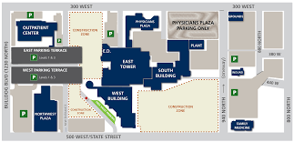 University Of Utah Parking Map by Contact Us And Maps Utah Valley Hospital