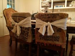 Burlap Dining Chairs Burlap Dining Chair Covers Home Chair Decoration