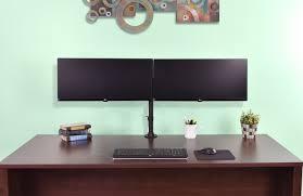 stand v032m dual computer monitor mount fully adjustable vesa