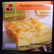 pumpkin custard global foods fork u