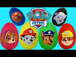 paw patrol nickelodeon play doh surprise eggs toys chase