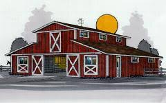 Barn Designs For Horses Horse Barn Plans Blueprints