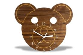 wooden animal wall modern wood animal wall clock echos