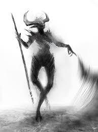 demon sketch by telthona on deviantart