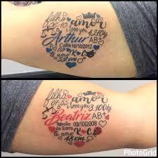 date of birth tattoo cool mens baby birthdate handprint upper chest tattoo tattoos