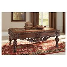 north shore coffee table dark brown signature design by ashley