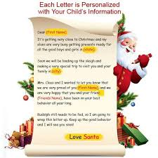 personalized letter from santa add to the magic of christmas with personalized letters from santa