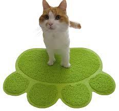amazon com two meows litter mat green pet supplies