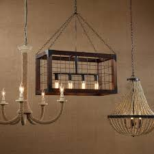 chandelier amazing rectangular wood chandelier excellent