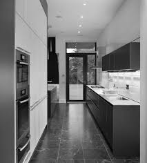design ideas for galley kitchens two tone white and grey kitchens decors for modern galley kitchen