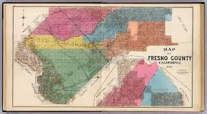 map of fresno fresno county calif david rumsey historical map collection