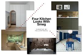 four kitchen looks with smeg linear collection
