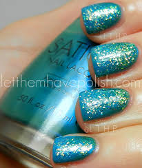 let them have polish sation glittery nail art