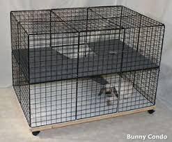 Indoor Hutch Rabbit Cage Indoor Bunny Condo Deluxe Hutch Pet Pen Large Smooth