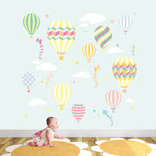 hot air balloon kites wall stickers deluxe hot air balloons kites tutti fruitti nursery wall stickers