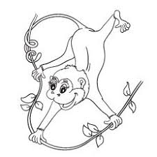 free coloring page coloring difficult monkey a coloring page with