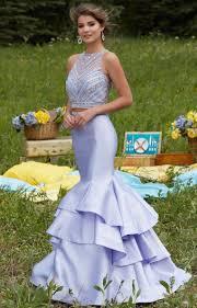 mori lee prom 99039 larissa satin ruffled mermaid two piece dress