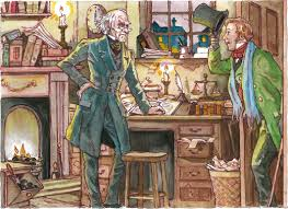 stave one pages 3 u201310 scrooge has visitors at the office summary