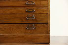 sold oak 11 drawer 1900 antique map chest drawing file or