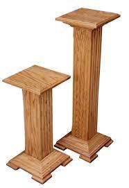 Wood Pedestal Stand Oak Pedestal Plant Stand Amish Furniture Factory Amish