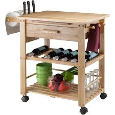 kitchen islands with wine rack finland kitchen cart natural walmart com