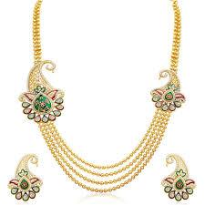 best necklace sets images Buy sukkhi alluring four strings gold plated necklace set online jpg