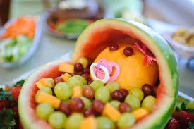 how to make a fruit basket the mandatory mooch baby shower fruit bassinet