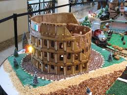 the colosseum in gingerbread gingerbread houses to drool over