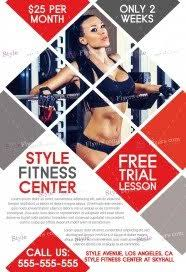 fitness flyer template free fitness flyer psd templates styleflyers