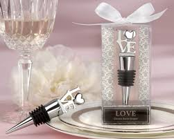 wine wedding favors chrome bottle stopper