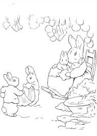 peter rabbit mother care sister coloring peter
